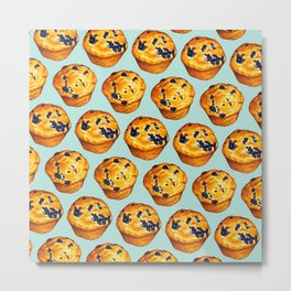 Blueberry Muffin Pattern Metal Print