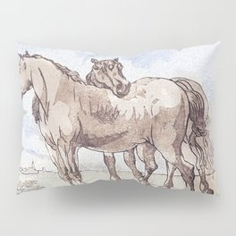 Companions - horse love Pillow Sham
