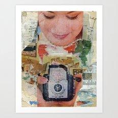 Madonna with Camera Art Print