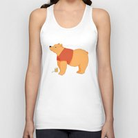 pooh Tank Tops featuring Pooh Bear by Ray Elaine