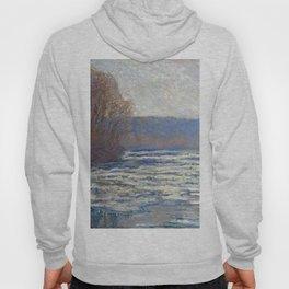 1893-Claude Monet-Ice breaking up on the Seine near Bennecourt-65 x 100 Hoody