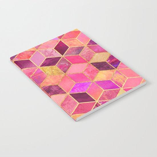 Pink Cubes Notebook