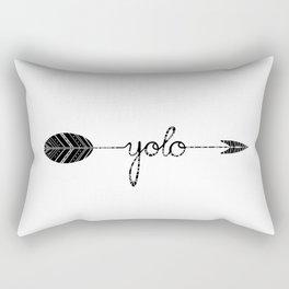 YOLO tribal arrow Rectangular Pillow