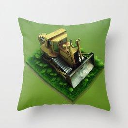 Bulldozer Throw Pillow