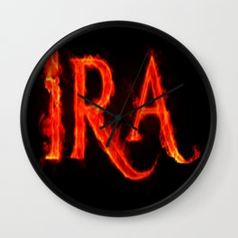 Ira ( anger ) Wall Clock