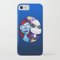 nightmare before christmas iPhone & iPod Cases featuring Nightmare Before Christmas by Janelle Jex
