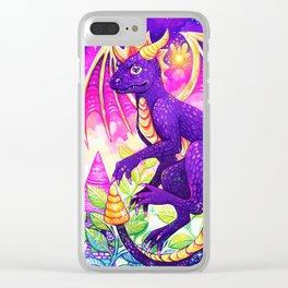 Purple Dragon Clear iPhone Case