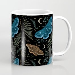Moths and Ferns Coffee Mug