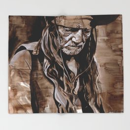 Sepia Willie Throw Blanket