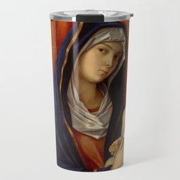 "Giovanni Bellini ""Madonna and Child"" (2) (late 1480s) Travel Mug"