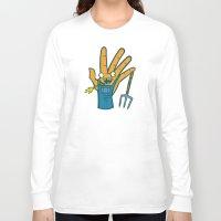 farm Long Sleeve T-shirts featuring Farm Hand by Artistic Dyslexia