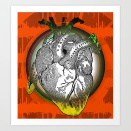 Frida's Heart Art Print