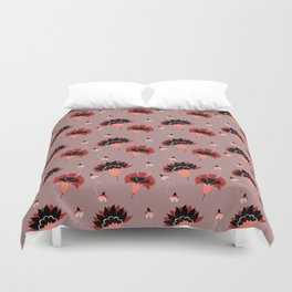 Coral Vintage Duvet Cover