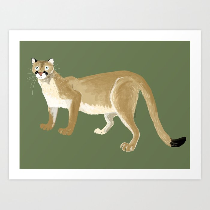 Caturday Puma Art Print