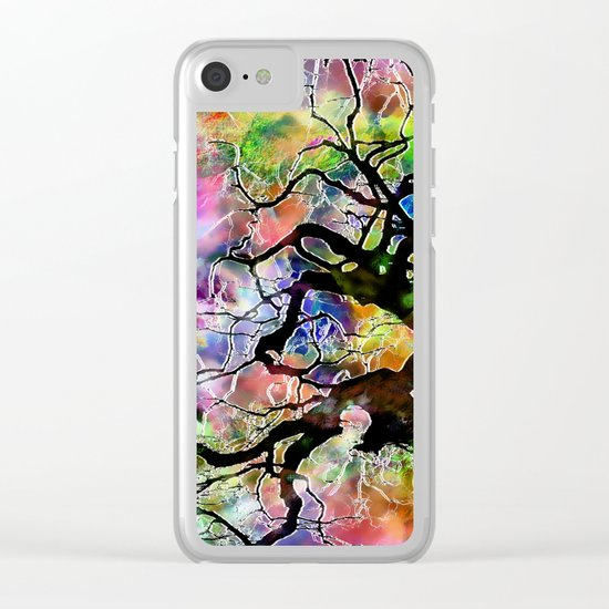 Frosted Tree Clear iPhone Case