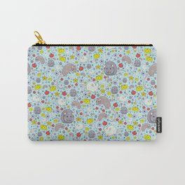 Pretty Rat and Mouse Pattern Carry-All Pouch