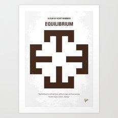 No595 My Equilibrium minimal movie poster Art Print