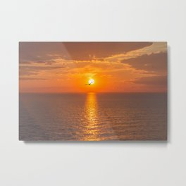 Sunset at the Baltic sea Metal Print