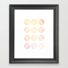 Line Round 2 Framed Art Print