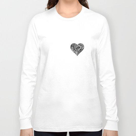 Abstract Heart Long Sleeve T-shirt