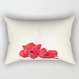 Floral Triangle Rectangular Pillow