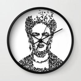 Kanji Calligraphy Art :Frida[black] Wall Clock