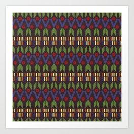 Aztec Print (Patterns Please) Art Print