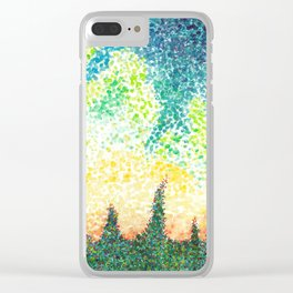 Abstract Forest Watercolor Clear iPhone Case