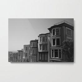 San Francisco Town Houses Metal Print