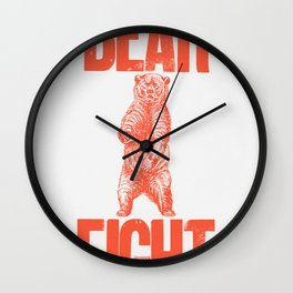 Bear Fight Wall Clock