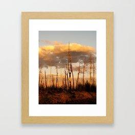 Dusk in Hell Framed Art Print