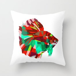 Betta fish Geometric artwork Throw Pillow