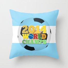 2014 World Champs Ball - Argentina Throw Pillow