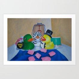 Rubber Ducky Wedding Art Print