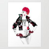 boneface Art Prints featuring Thriller by boneface
