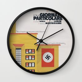 Una giornata particolare, alternative movie poster, Marcello Mastroianni, Sophia Loren, italian film Wall Clock