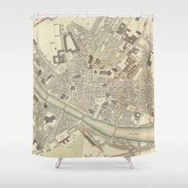Vintage Map of Florence Italy (1835) Shower Curtain