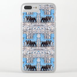 Egyptian Pattern VI Clear iPhone Case