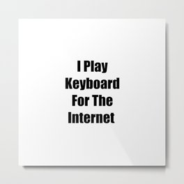 I Play Keyboard For The Internet Metal Print