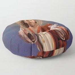 Saint Nicolas of Cage Floor Pillow