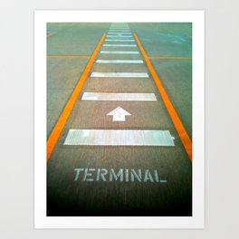 Terminal A Art Print