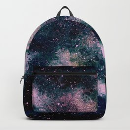 Dreamy Cloud Galaxy, Pink Backpack