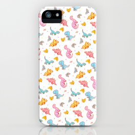 Dino party iPhone Case