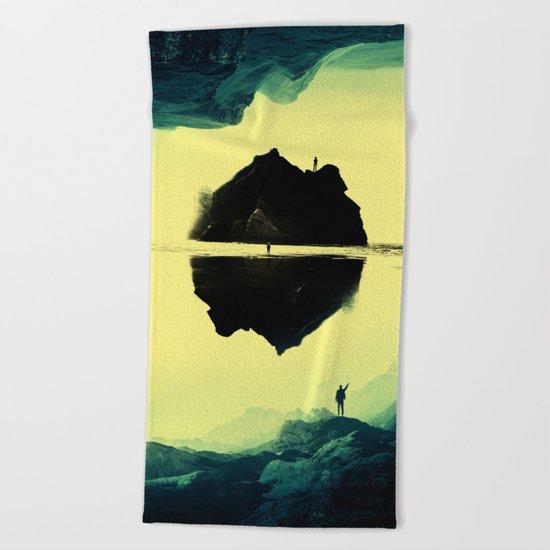 Triple Isolation in Green Beach Towel