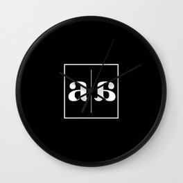 """"""" Mirror Collection """" - Minimal Letter A Print Wall Clock"""