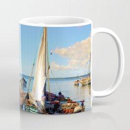 Dhow Boats Stone Town Port Zanzibar Coffee Mug