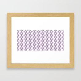 Spiffy circle and square pattern Framed Art Print