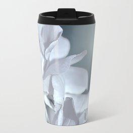 Twin White Roses Travel Mug