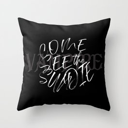 Vampire Come See the Sun Die Throw Pillow