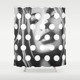 Kate Moss x Dots by Moe Notsu Shower Curtain